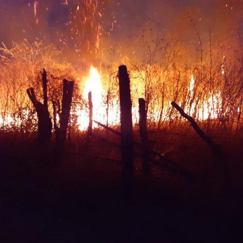 Em Picos, incêndio ameaçador no bairro Ipueiras é combatido pelo Corpo de Bombeiros; veja vídeo