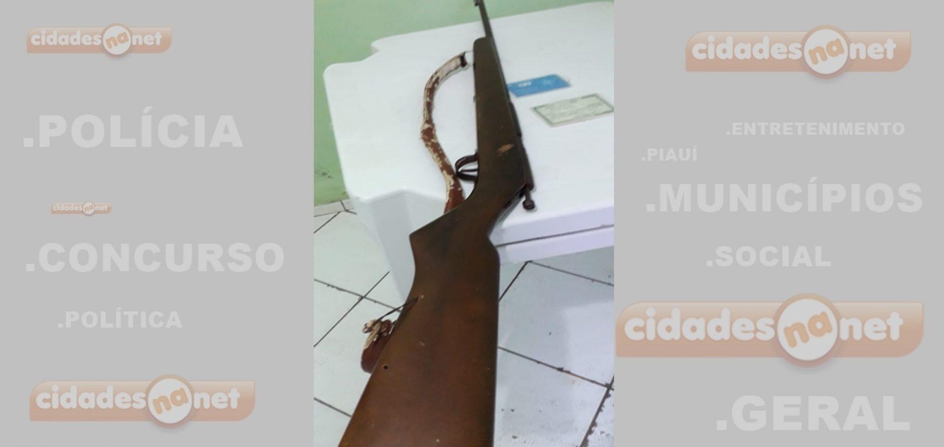 Polícia de Simões prende homem por porte ilegal de arma