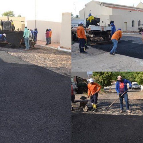 Prefeitura de Caldeirão Grande do Piauí investe em pavimentação asfáltica na zona urbana da cidade