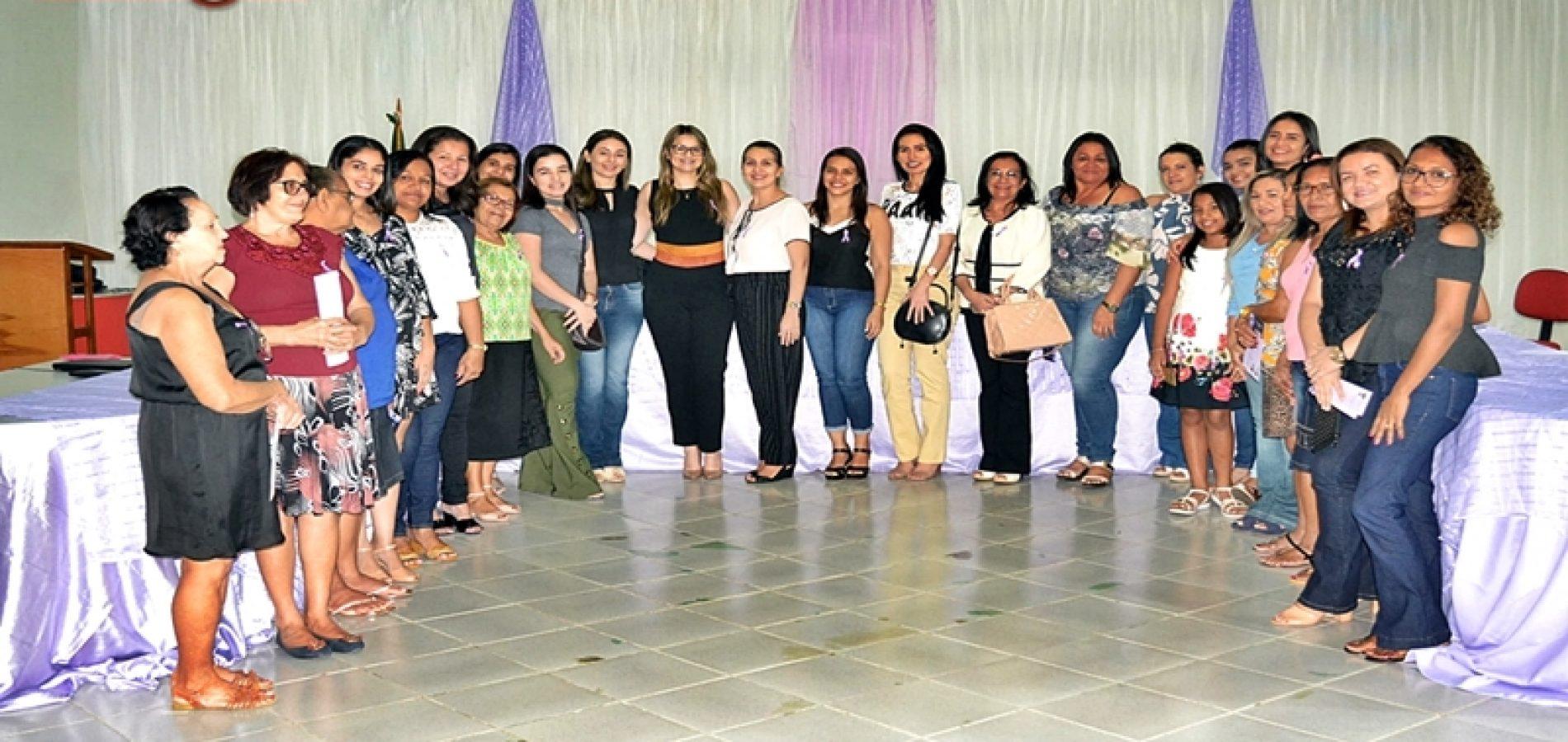 Assistência Social de Simões promove roda de conversa e discute sobre violência contra a mulher