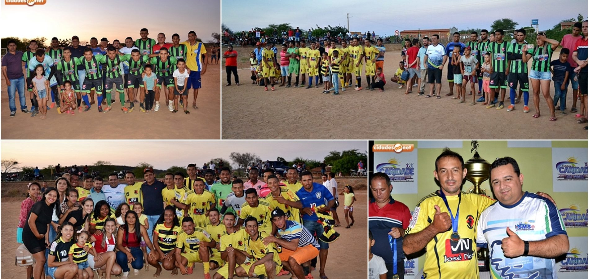 Prefeito Toninho prestigia final de campeonato do interior de Caridade do Piauí