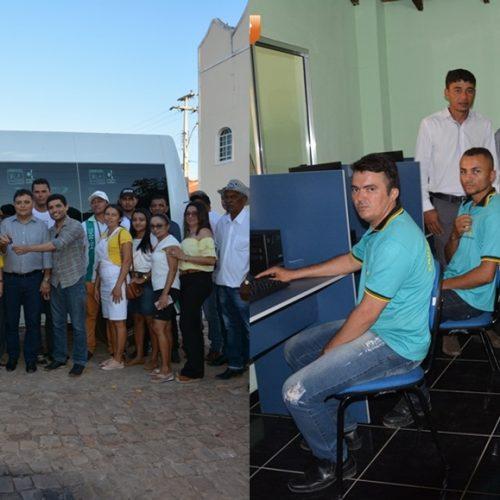 Prefeito de Vera Mendes faz entrega de van para a Saúde e de computadores para o Conselho Tutelar