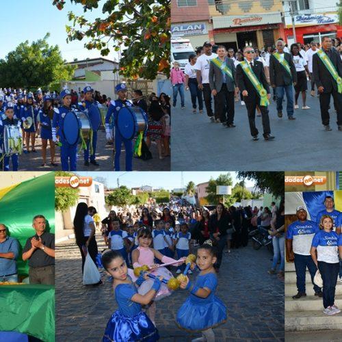 Desfile em comemoração ao Dia da Independência retrata a História do Brasil em Simões