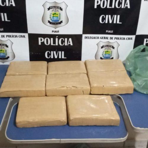 Polícia de Geminiano apreende mais de 9 kg dedroga na PI 245