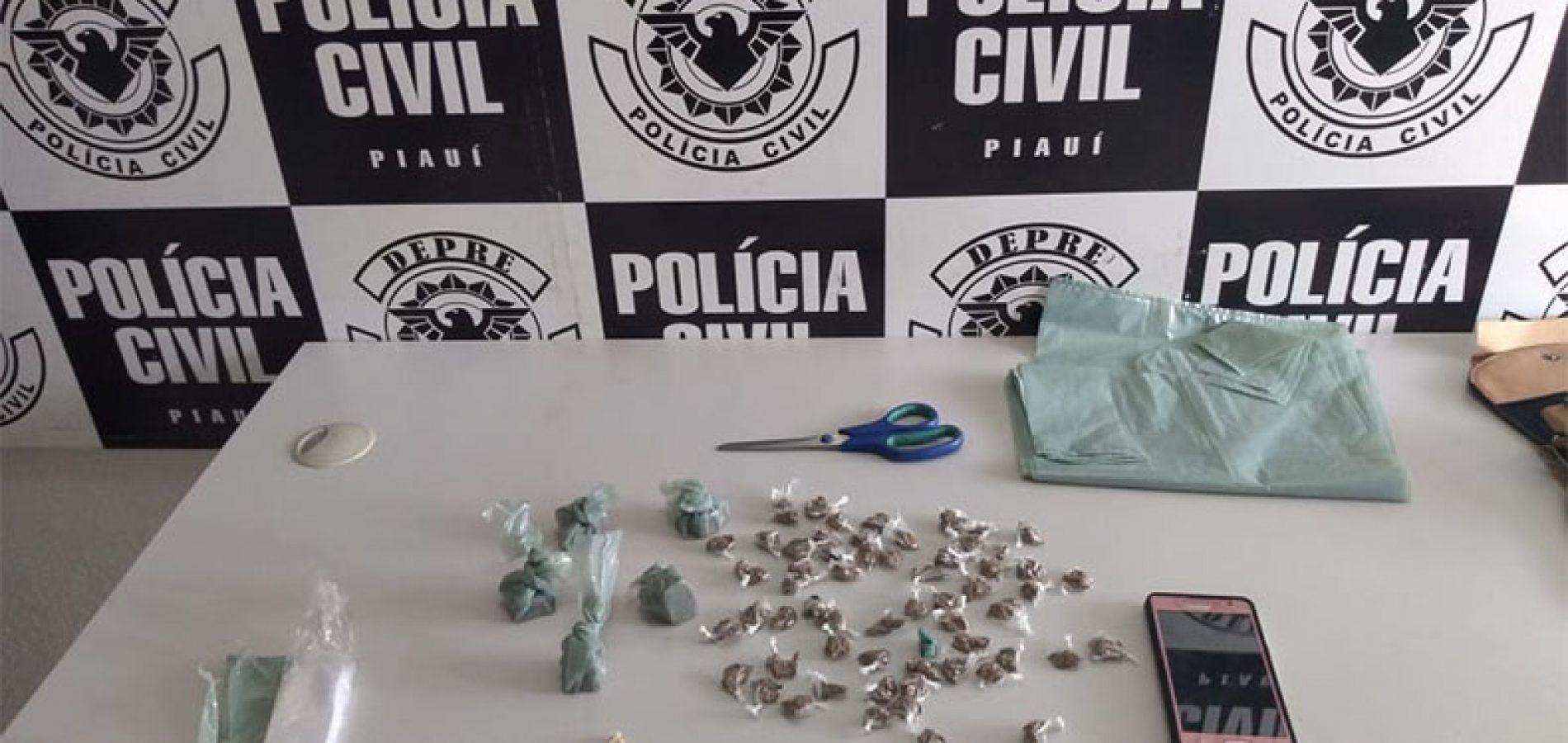 Suspeito de tráfico é preso no Piauí com droga na cueca