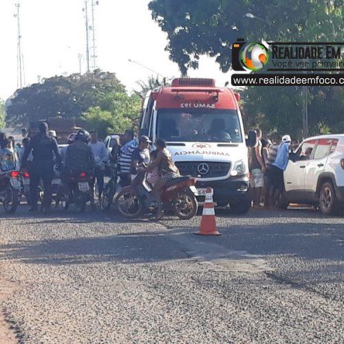 Colisão frontal entre moto e Jeep deixa mulher morta e criança ferida no Piauí