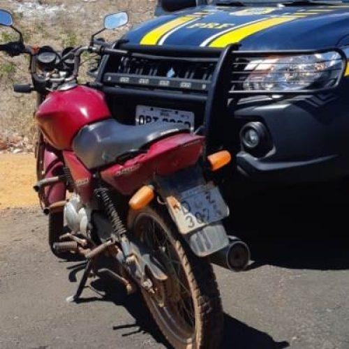 PRF recupera moto roubada em Santo Antônio de Lisboa