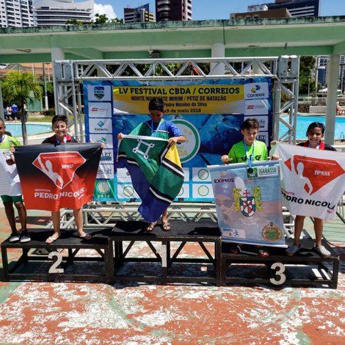 Nadadores do Piauí conquistam 10 medalhas no Norte-Nordeste Mirim e Petiz