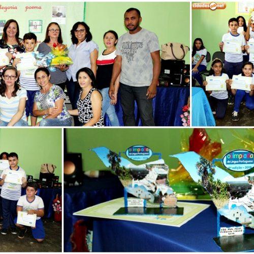 SANTANA│Alunos destaques da U.E. Pascoal Borges são premiados na etapa escolar da 6ª Olimpíada de Língua Portuguesa