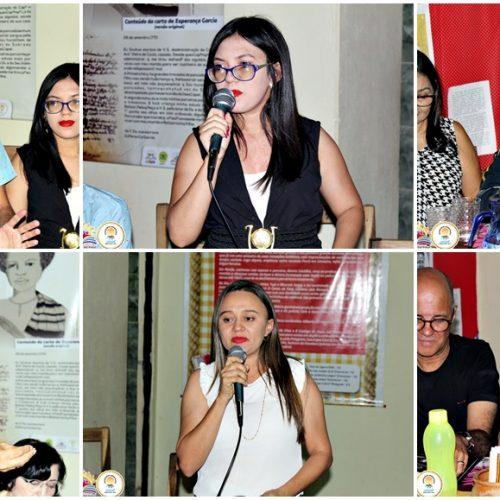 Bate-papo literário e palestra reúne escritores no aniversário da Biblioteca Patativa do Assaré em Vila Nova; fotos