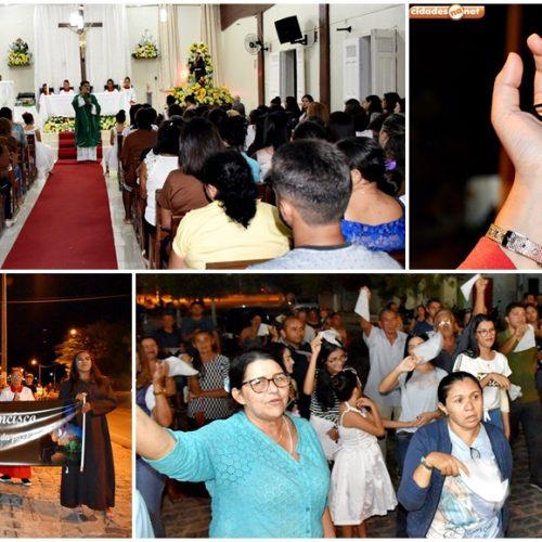 SÃO JULIÃO│Caminhada e missa abrem o 60º festejo de São Francisco no povoado Mandacaru; veja fotos