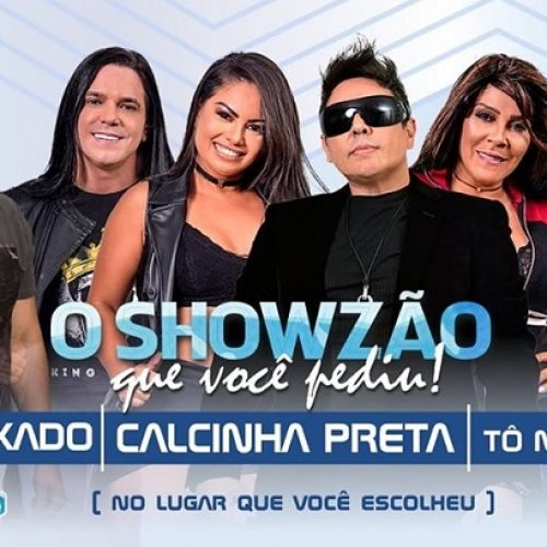 Showzão: Calcinha Preta, JM Puxado e Tô na Farra em Picos nesta sexta (20); sorteio de cortesias