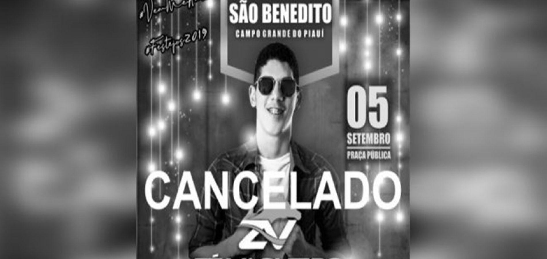 Prefeitura de Campo Grande do PI cancela festa após falecimento de jovem; Veja nota de esclarecimento!