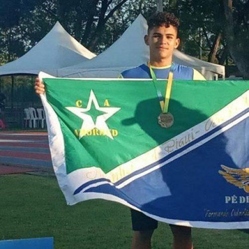 Salto em distância: piauiense conquista bronze no Campeonato Brasileiro Sub-16 de Atletismo