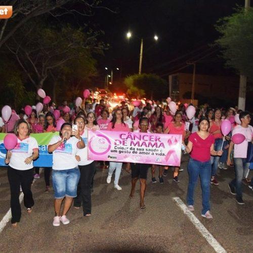 OUTUBRO ROSA   Saúde de Picos promove caminhada de conscientização na prevenção do câncer de mama