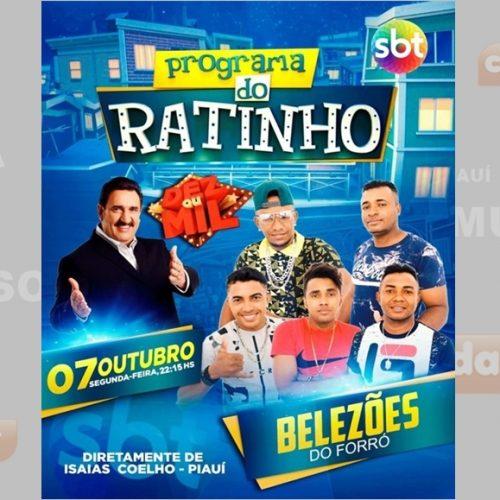 Banda de forró de Isaías Coelho se apresentará no Programa do Ratinho do SBT