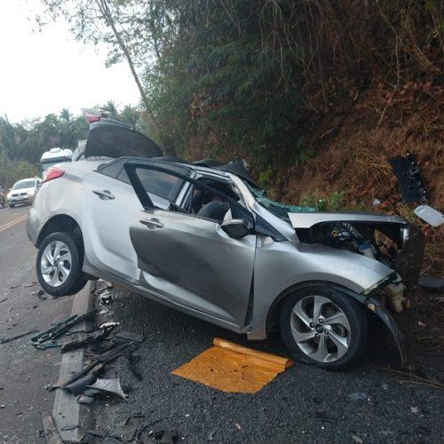 Diretora de hospital no PI e os dois filhos morrem em acidente na BR-316