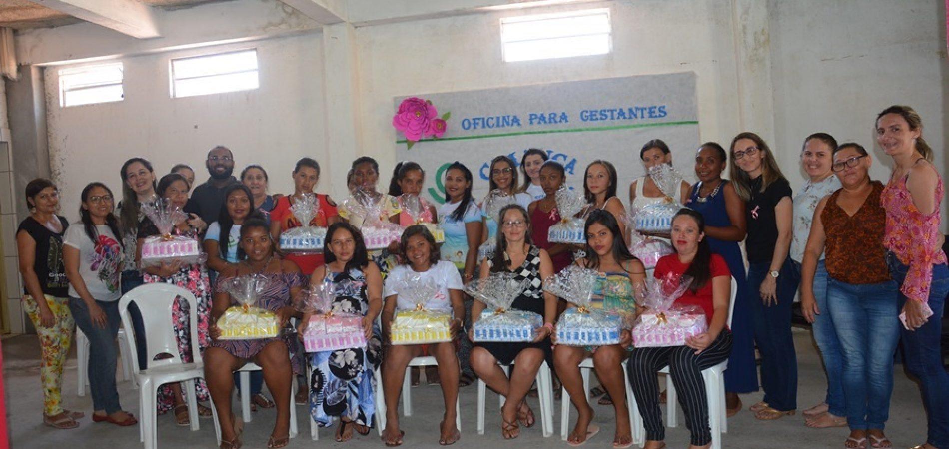 Em Massapê, gestantes do programa Criança Feliz participam de palestra e recebem kit