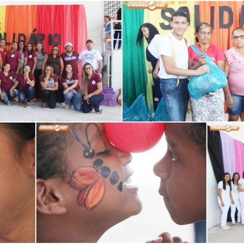 """Culminância do projeto """"Kairós Solidário"""" beneficia famílias carentes de Jaicós com doações e prestação de serviços"""