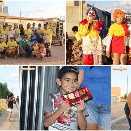"""Projeto """"Sorrir e Brincar"""" distribui presentes e beneficia crianças carentes do município de Jaicós"""
