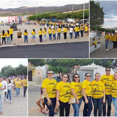 Caminhada encerra campanha do Setembro Amarelo em Caldeirão Grande do Piauí