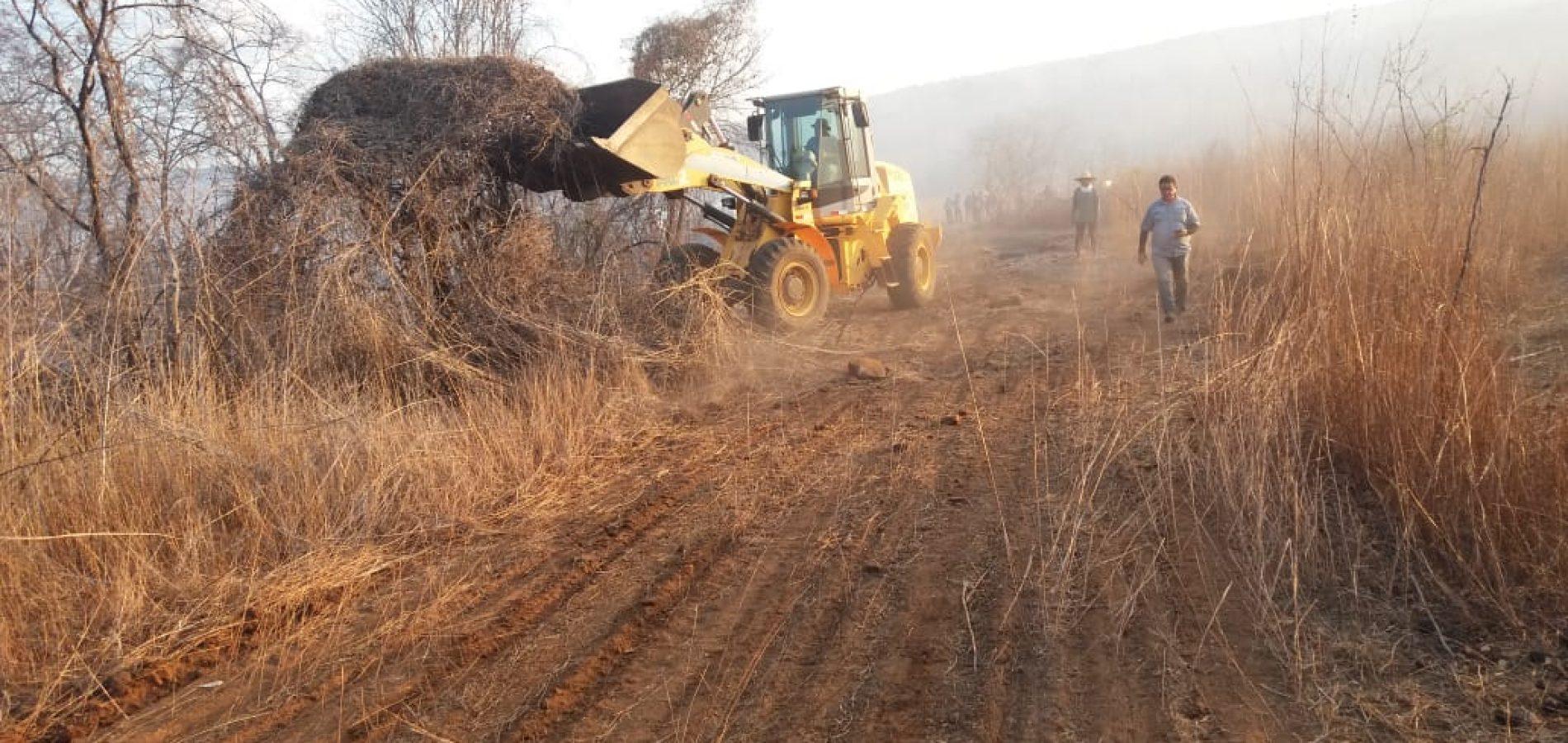 Prefeitura de Santana do Piauí monta equipe para combater os focos de incêndios no município
