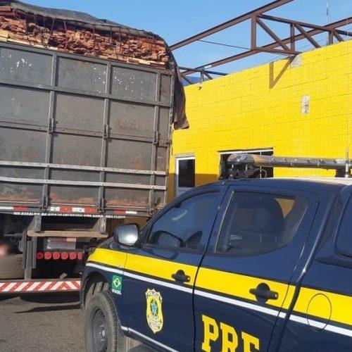 PRF apreende madeira sem licença ambiental no Piauí