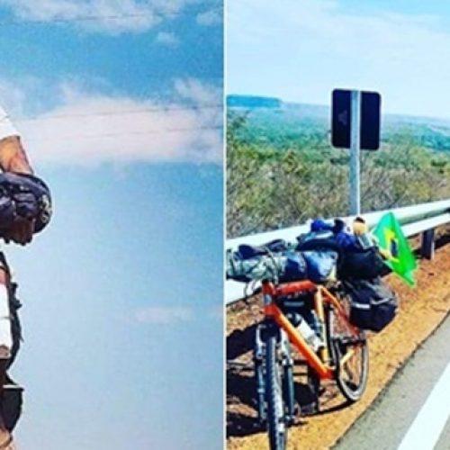 Piauiense larga tudo para cruzar a América do Sul de bicicleta e cumprir 'missão'