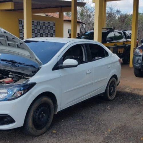 Em Picos, PRF prende condutor por receptação e apreende veículo adulterado na BR-316