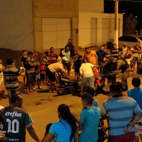 Colisão entre motos deixa duas pessoas feridas em Jaicós. Veja!