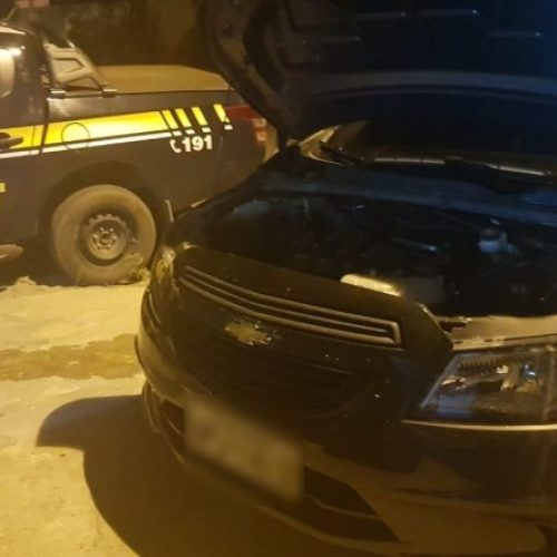 PRF recupera veículo e prende homem por apropriação indébita na BR 020 em Francisco Santos
