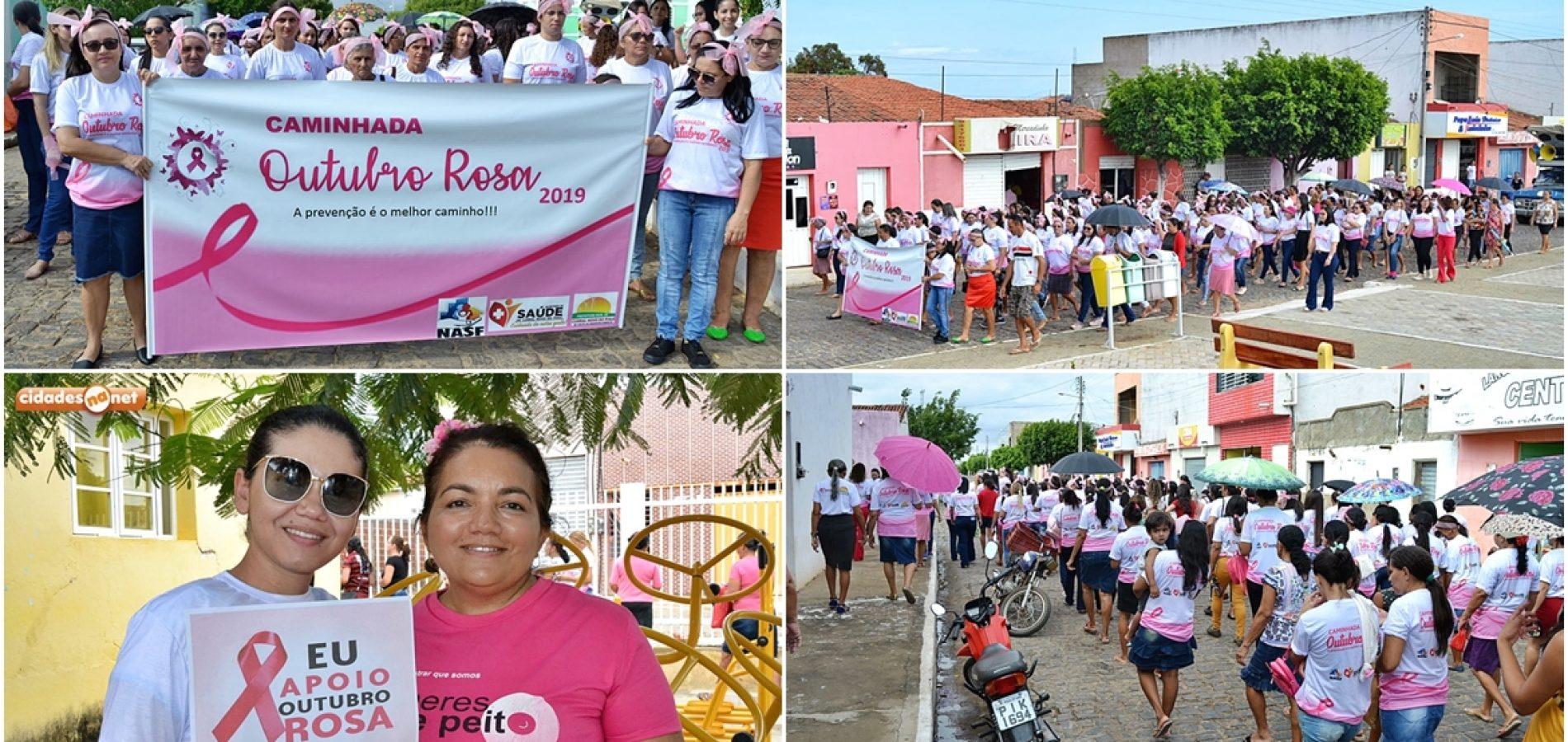 Secretaria de Saúde de Curral Novo do Piauí realiza caminhada em alusão ao Outubro Rosa