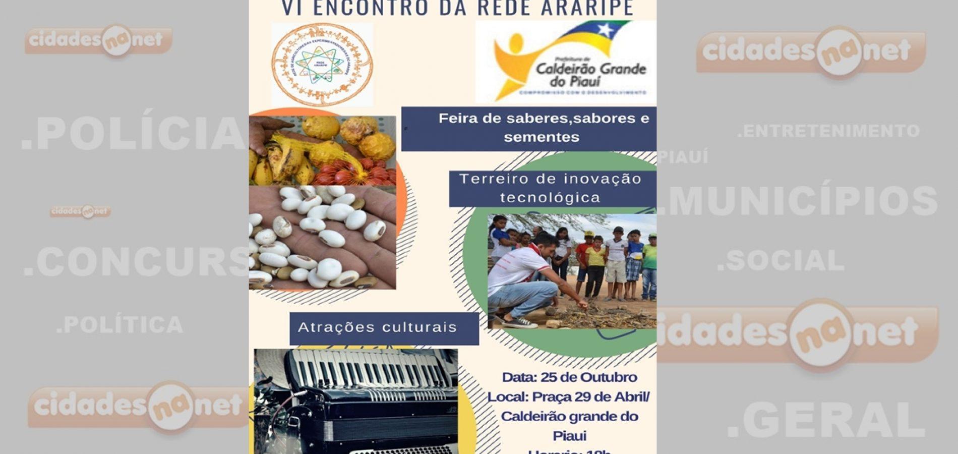 Caldeirão Grande do Piauí sedia nos dias 25 e 26 o VI Encontro da Rede Araripe
