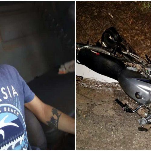 Colisão entre motocicleta e carreta deixa jovem morto e um gravemente ferido próximo a Marcolândia