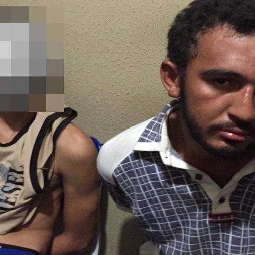 Policia Militar de Picos prende dois homens após assalto em posto de gasolina
