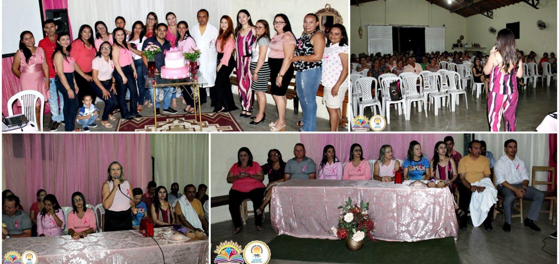 Saúde de Vila Nova do Piauí promove palestras alusivas à campanha Outubro Rosa; veja fotos