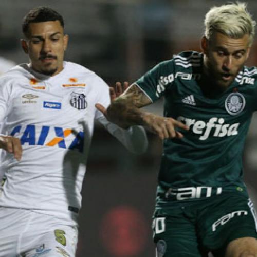 Santos nocauteia Palmeiras na Vila e se mantém no retrovisor do Flamengo