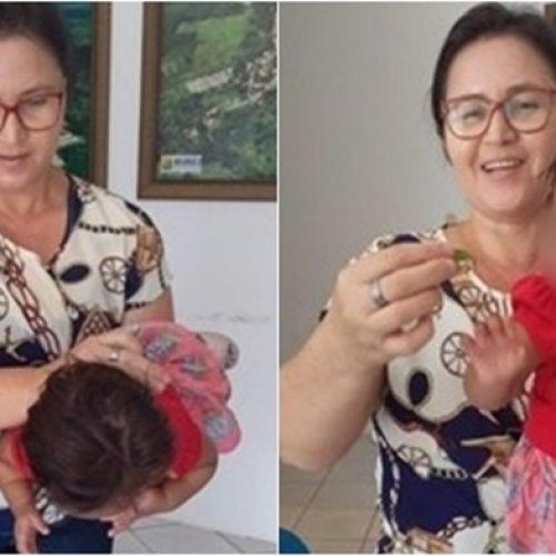 No Piauí, chefe de gabinete salva bebê engasgada com folha de árvore