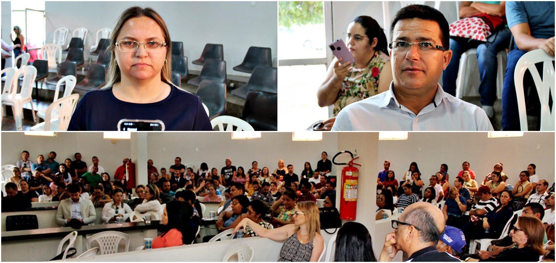 Prefeito e Supervisora de Ensino representam Caldeirão Grande no Encontro Técnico TCE Educação