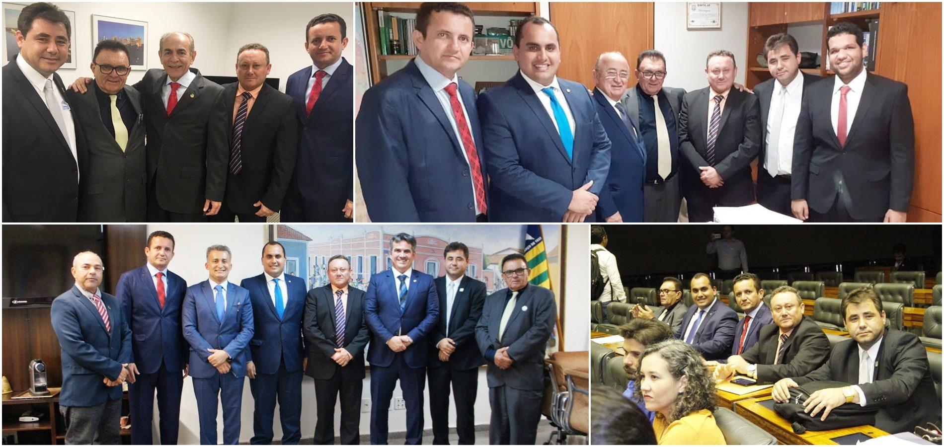 Em Brasília, prefeito Valdinar garante cerca de 3 milhões em investimentos para Padre Marcos