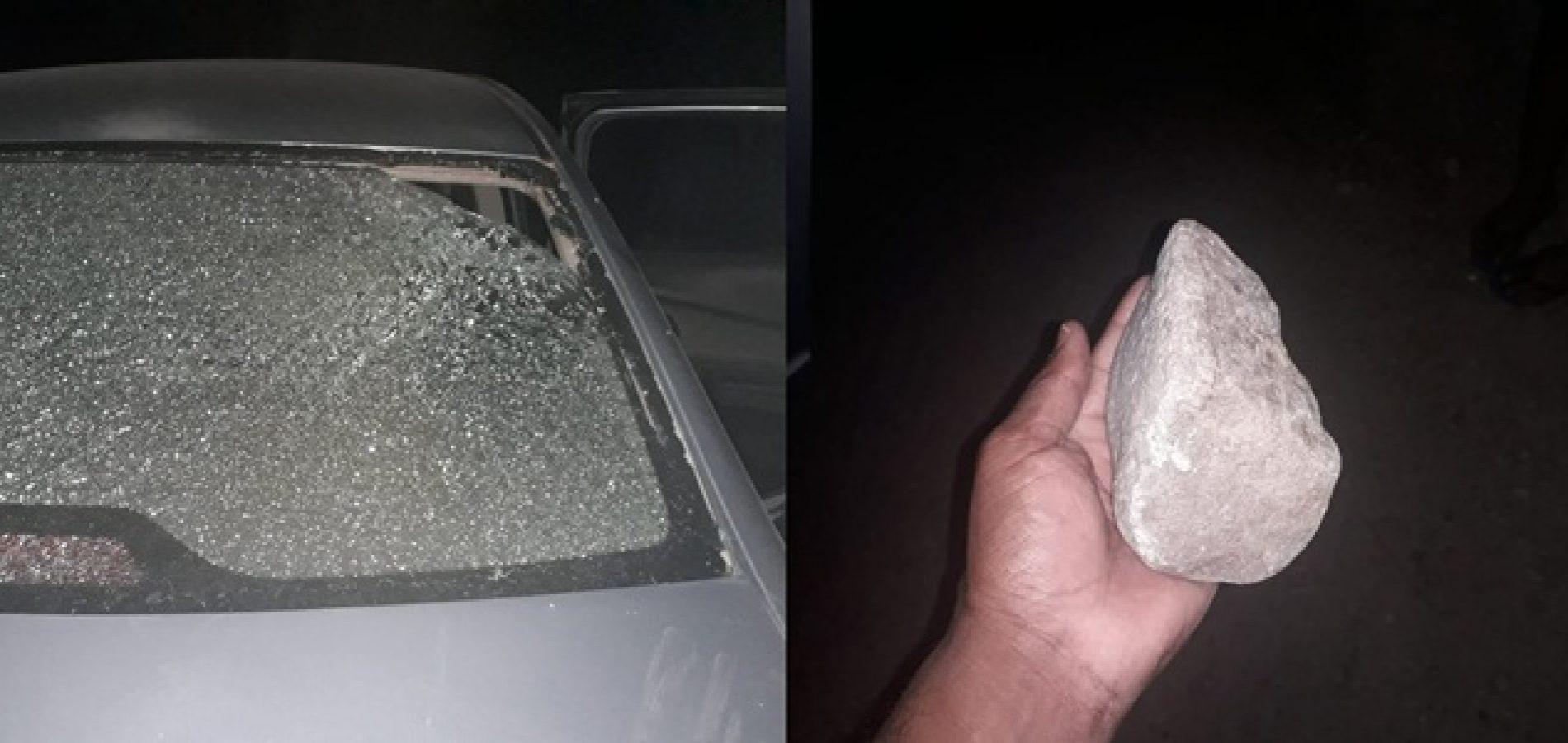 PATOS   Homem é suspeito de ameaçar esposa e lançar pedra contra carro ocupado por ela e os filhos
