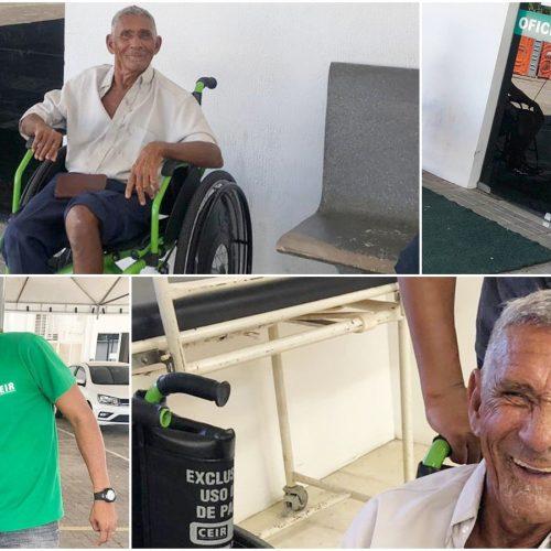 Paciente de Patos do Piauí é beneficiado com cadeira de rodas motorizada