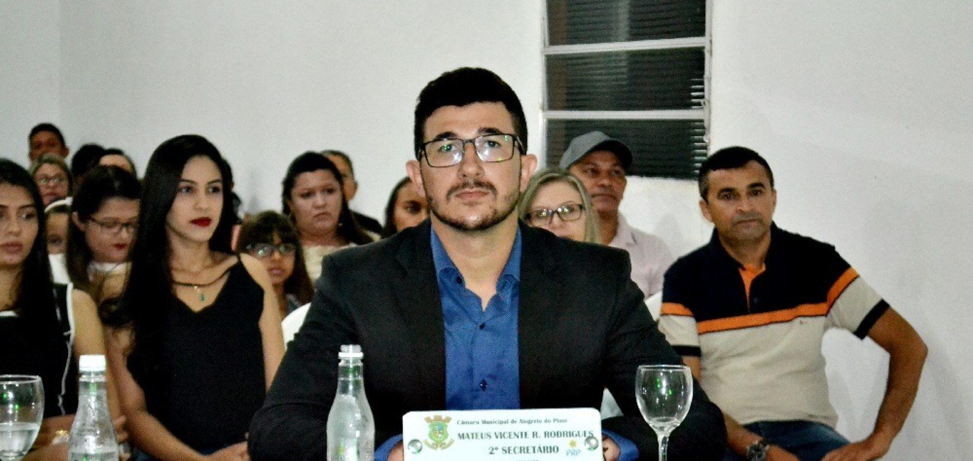 ALEGRETE   Vereador Mateus Vicente junto à Câmara de Vereadores realizará campanha em prol de famílias carentes