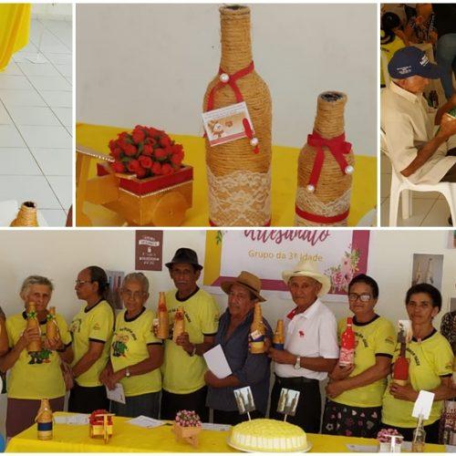 CURRAL NOVO | Secretaria de Assistência Social realiza oficina de artesanato com grupo de idosos