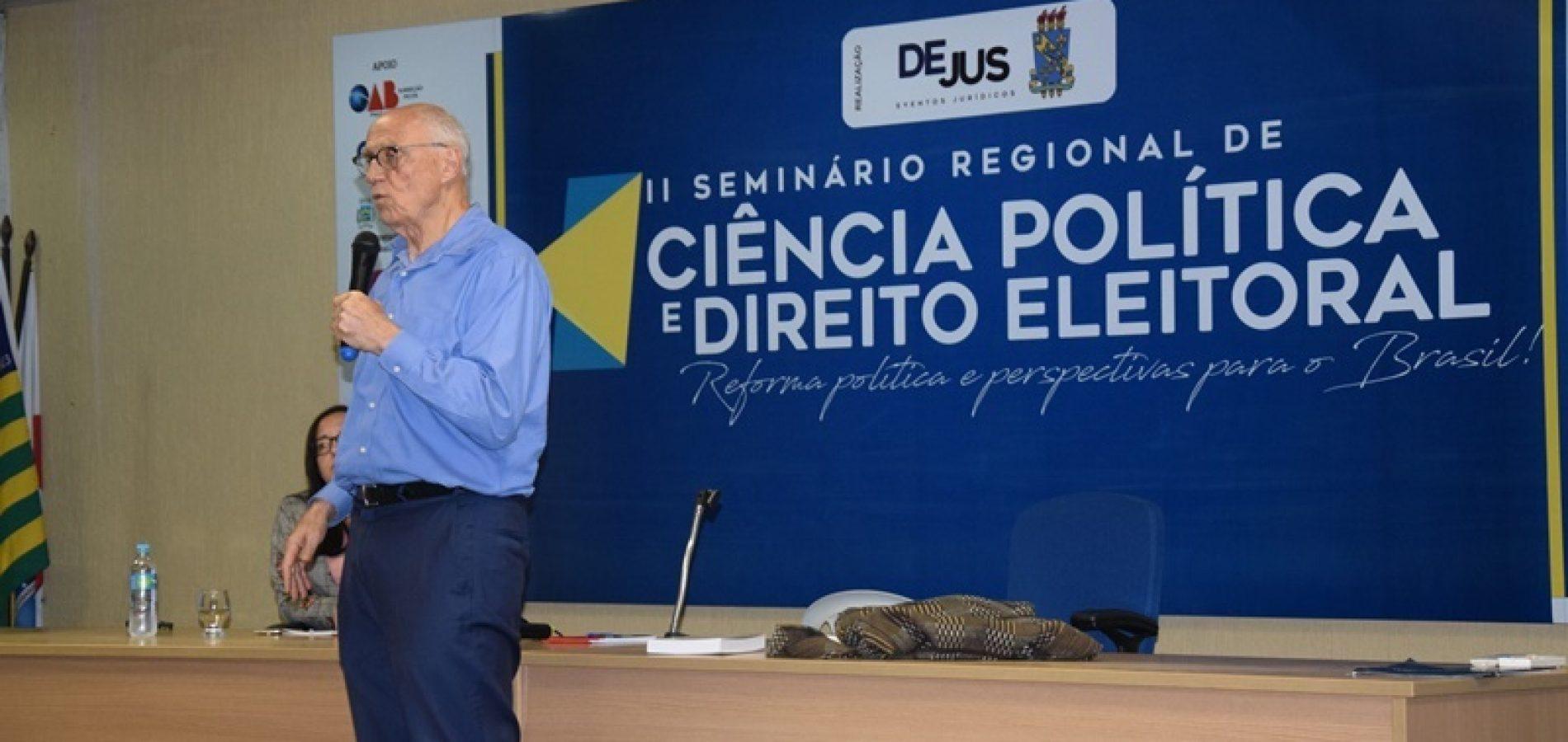 PICOS | Eduardo Suplicy é destaque em II Encontro Regional de Ciência Política e Direito Eleitoral