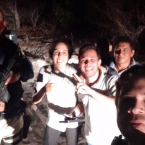 Casal de geógrafos é resgatado depois de 6h perdido dentro de mata na divisa do Piauí e Ceará