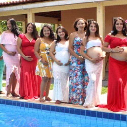 Assistência Social de Belém do PI oferece dia de lazer e ensaio fotográfico para gestantes do Criança Feliz