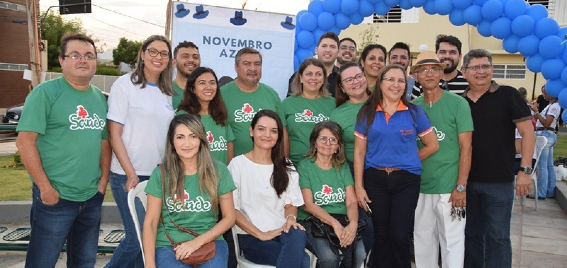 Saúde realiza ações de prevenção aos cânceres de boca e próstata no centro de Picos