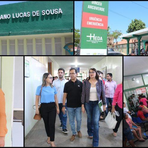 Deputados constatam superlotação e atraso de repasses em hospitais de Parnaíba e Buriti dos Lopes