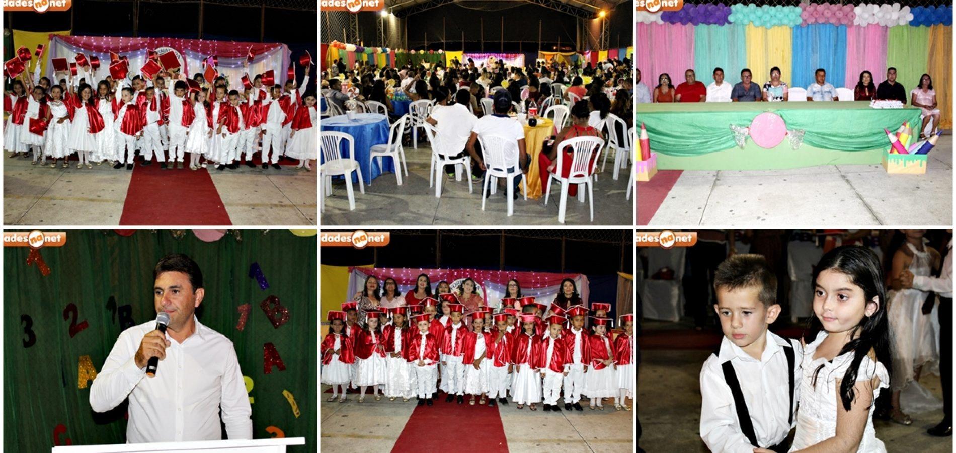 Confira as fotos da formatura dos Doutores do ABC da Escola Proinfância Ananias Maria de Alencar em Francisco Macedo
